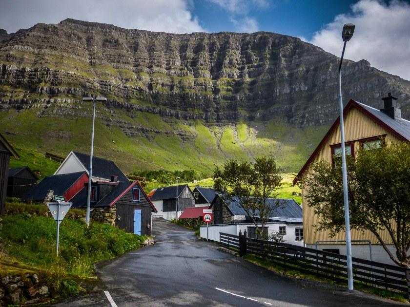 Faroe Islands Kunoy Färöer Inseln Dorf
