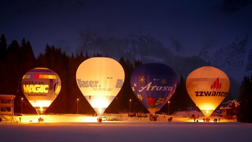 Hot Air Balloon Alpine Week Arosa-1100322