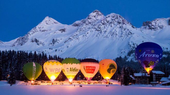 Winterwelten Arosa Lenzerheide Hotel Ballonwochen alipine Schiesshorn Glooming