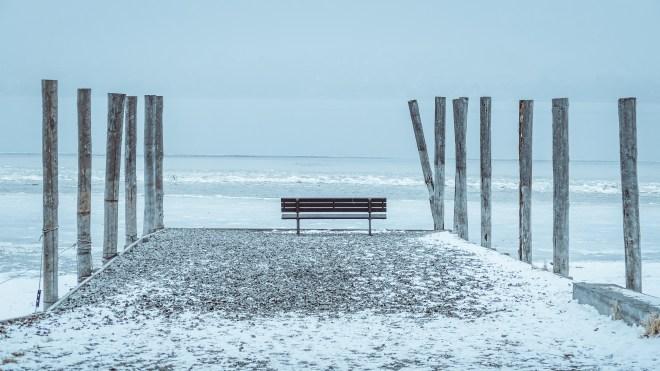 frostiger Platz (Insel Reichenau, Januar)