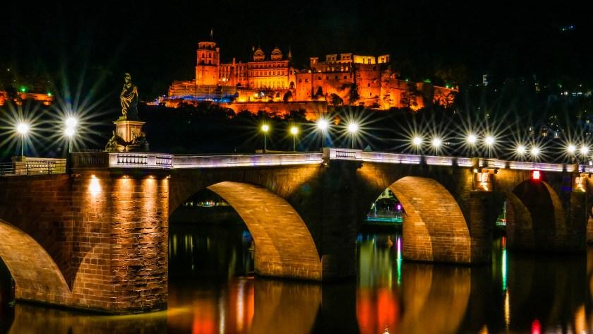 alte Brücke, Heidelberger Schloss, Castle, Old Town, Germany,