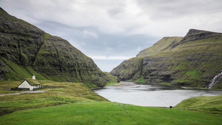 Saksun Church Faroe Islands Färöer Inseln kleine Kirche