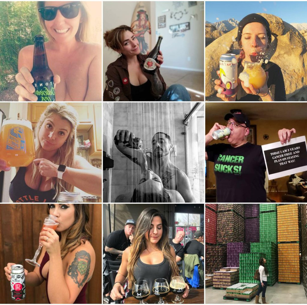 BeerSeflie Instagram 2018 Top Nine
