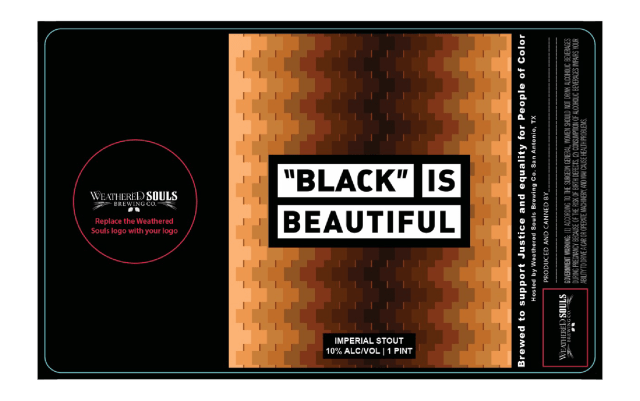 black is beautiful label