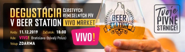 Degustacia remeselnych piv v Beer Station VIVO! Bratislava