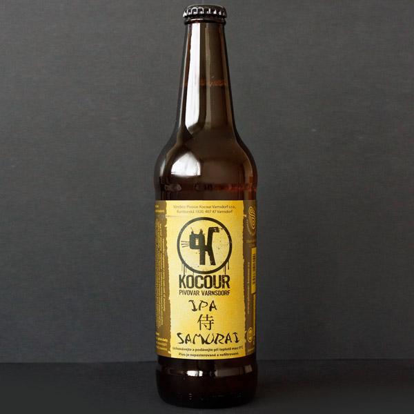 Kocour; Samurai 14°; Craft Beer; Remeselné Pivo; Živé pivo; Beer Station; Fľaškové pivo; IPA; pivovar Kocour