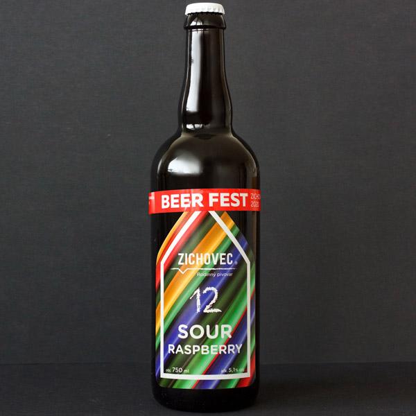 Sour Raspberry 12; Zichovec; Sour Zichovec; sour ale; Beer Station; pivo e-shop; remeselné pivo; remeselný pivovar; craft beer Bratislava; živé pivo