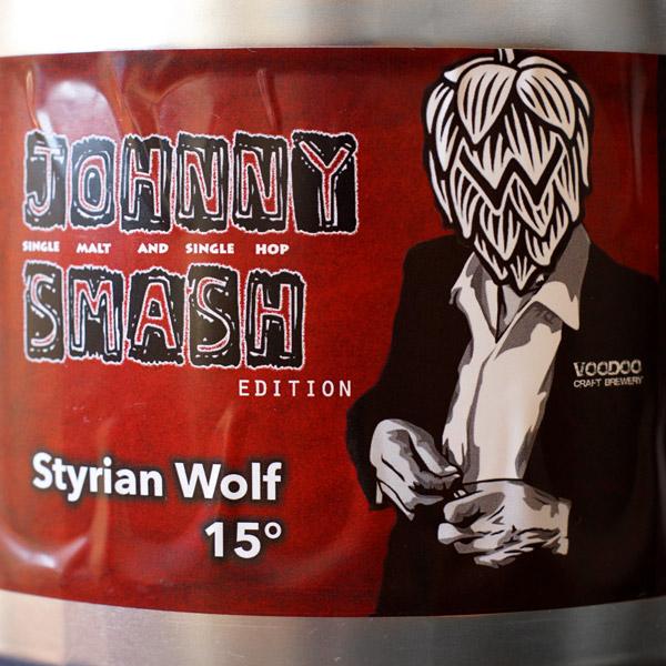 Voodoo; Johny SMASH 15; Craft Beer; Remeselné Pivo; Živé pivo; Beer Station; Party sudok; SMASH IPA; Pivo; IPA; Styrian Wolf
