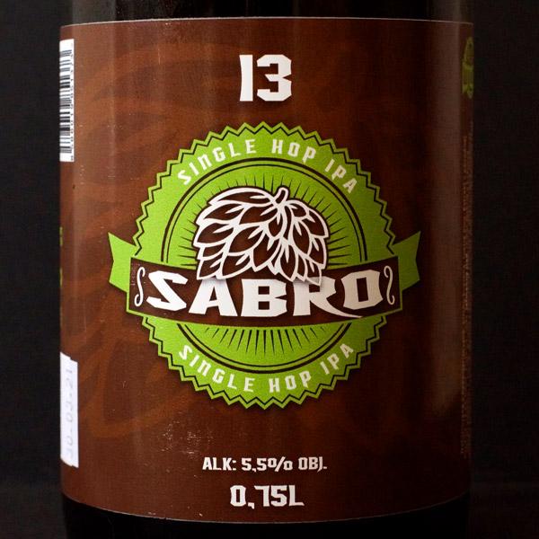 WYWAR; Sabro 13°; Craft Beer; Remeselné Pivo; Živé pivo; Beer Station; Fľaškové pivo; IPA; Single Hop