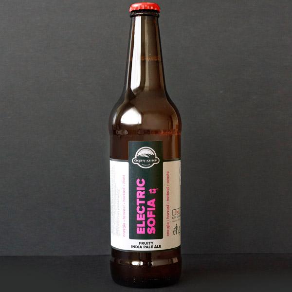 Čierný kameň; Electric Sofia 13°; Craft Beer; Remeselné Pivo; Živé pivo; Beer Station; Fľaškové pivo; ležiak; pivovar Čierny Kamen; pivo so sebou; fruit ipa