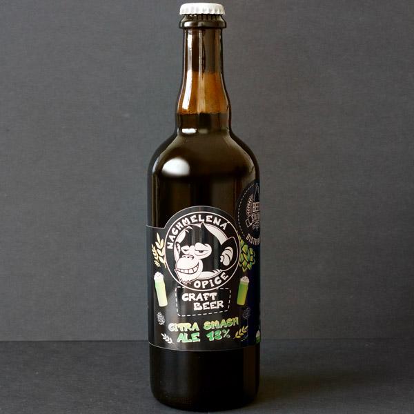 Citra SMASH 13°; Nachmelená Opice; Pivo Nachmelená Opice; Pivo Opica; Distribúcia piva; Single Hop; Single Malt; pivo