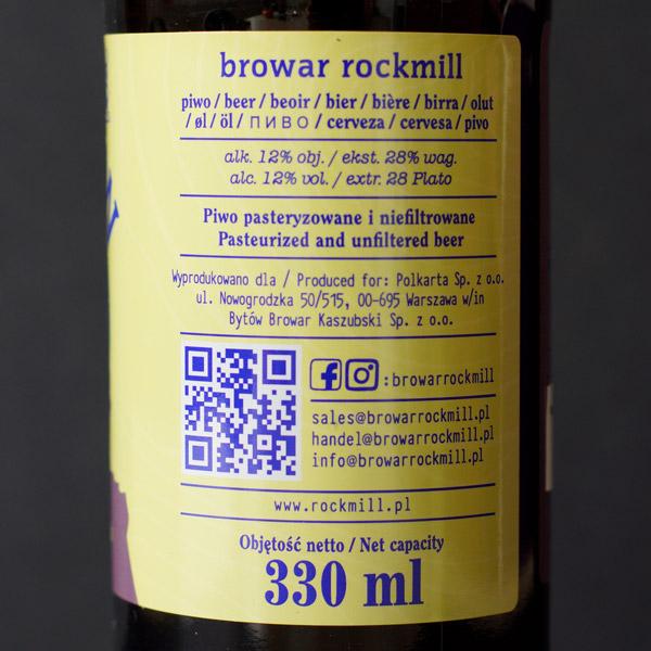 Rockmill; Illusion Bourbon BA; Craft Beer; Remeselné Pivo; Salon piva; Beer Station; Plechovkové pivo; Imperial Stout; Distribúcia piva; Poľský pivovar; Poľské pivo