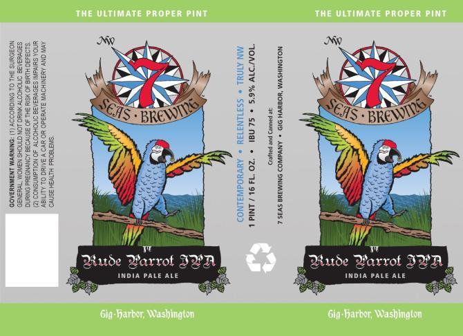 7 Seas Brewing Rude Parrot IPA