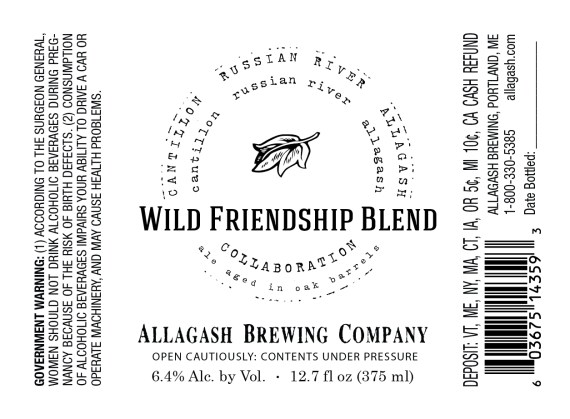 Allagash Wild Friendship Blend
