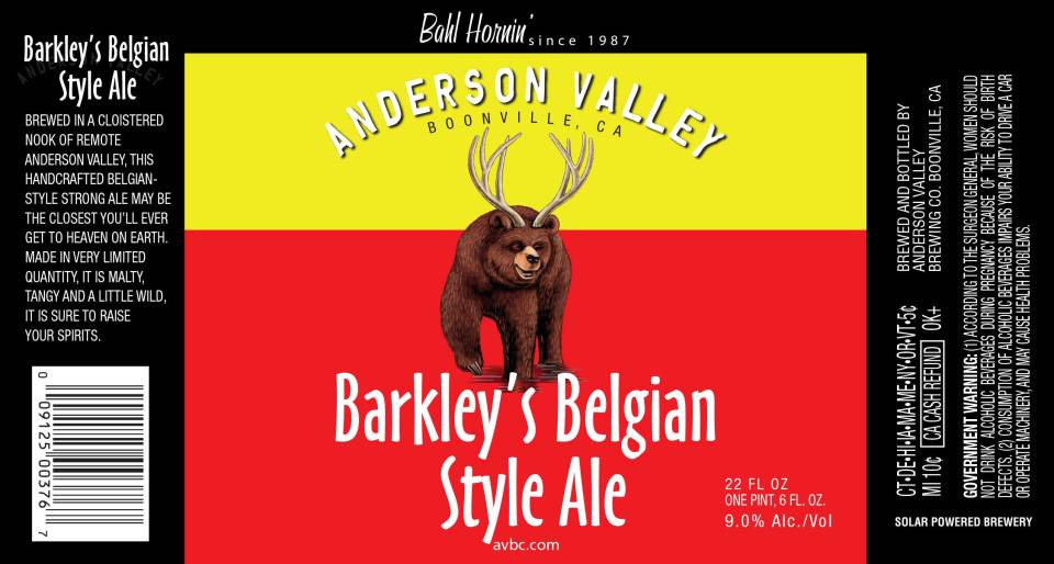 Anderson Valley Barkley's Belgian Style Ale
