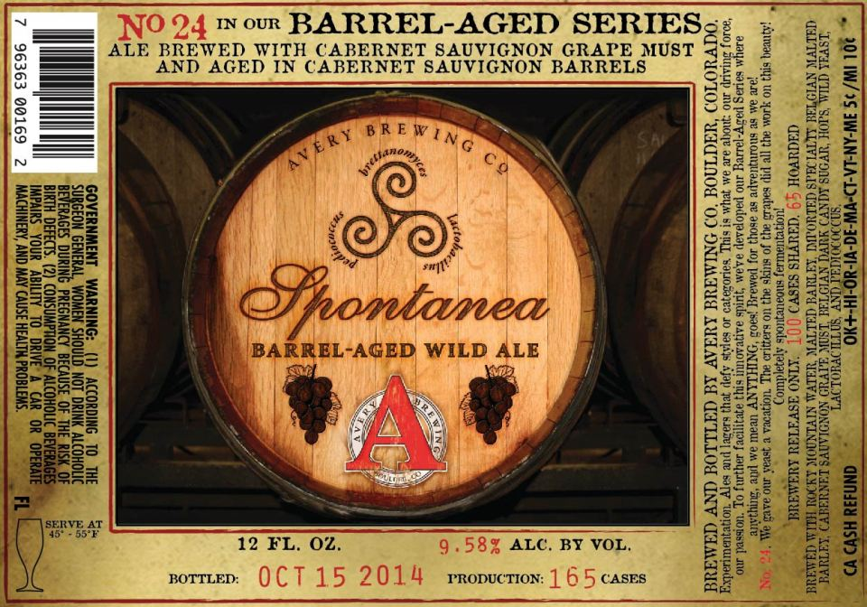 Avery Barrel Aged Spontanea
