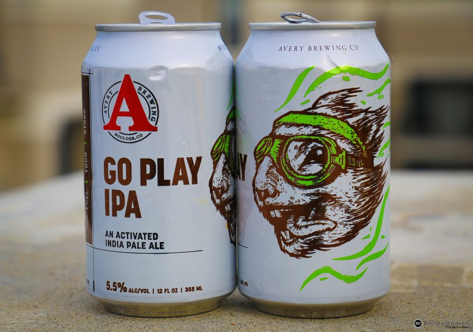 Avery Go Play IPA cans