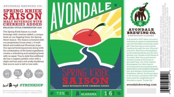 Avondale Brewing Spring Saison