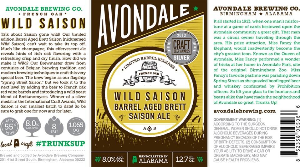 Avondale Wild Saison