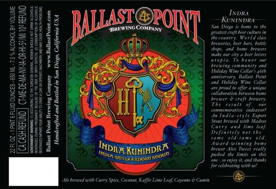 Ballast Point Indra Kunindra