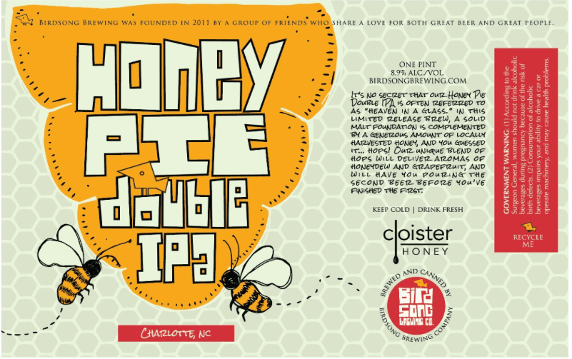 Birdsong Honey Pie Double IPA