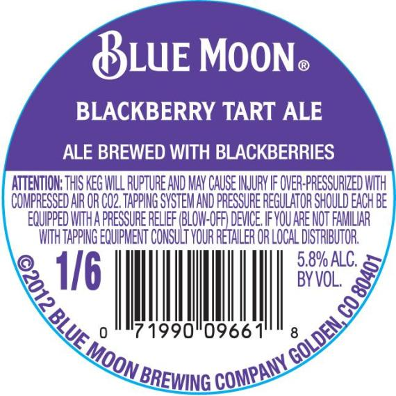 Blue Moon Blackberry Tart
