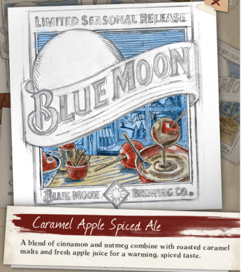 Blue Moon Caramel Apple