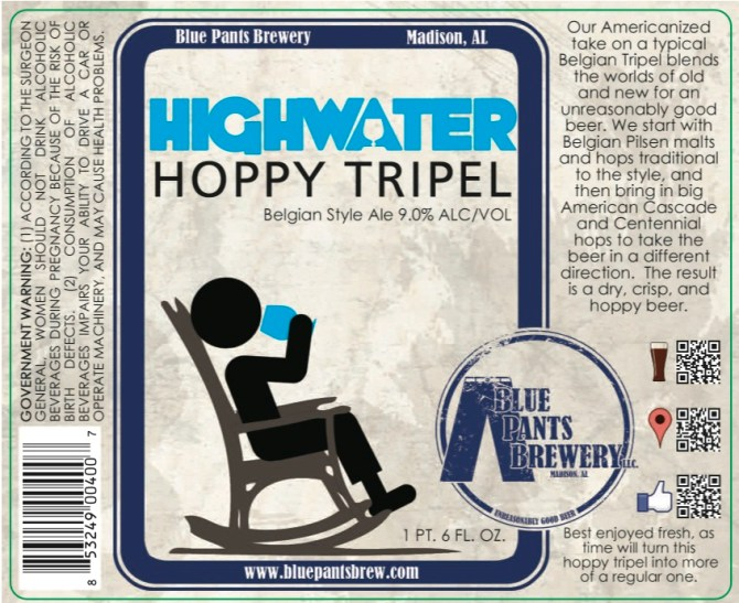Blue Pants Highwater Hoppy Tripel