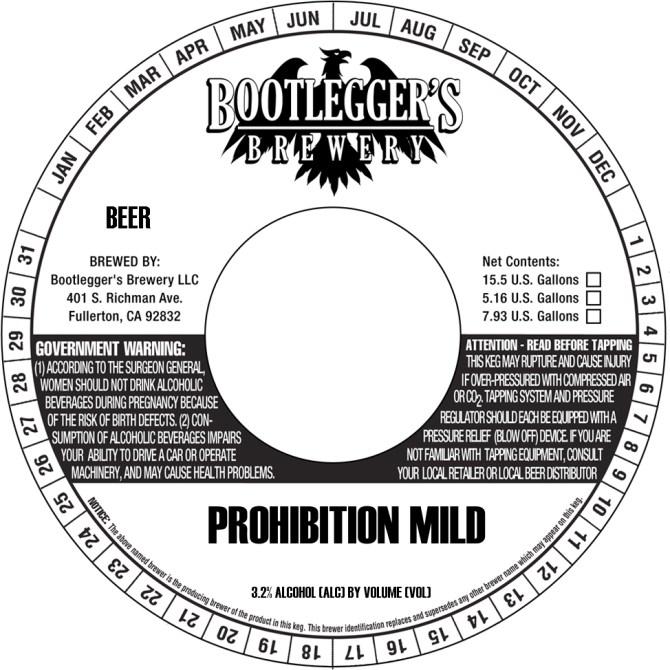 Bootleggers Prohibition Mild