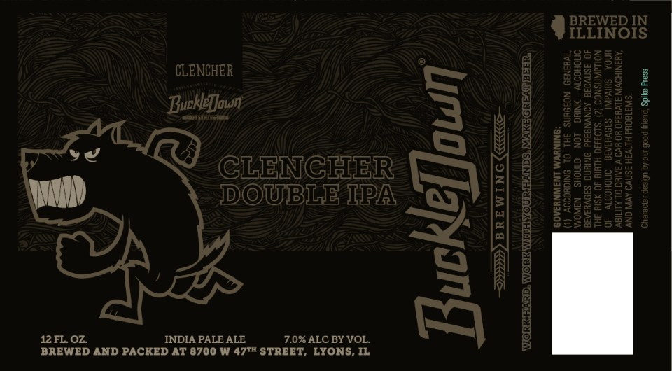 Buckledown Brewing Clencher Double IPA