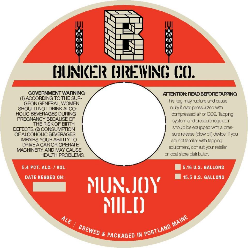 Bunker Brewing Co Munjoy Mild