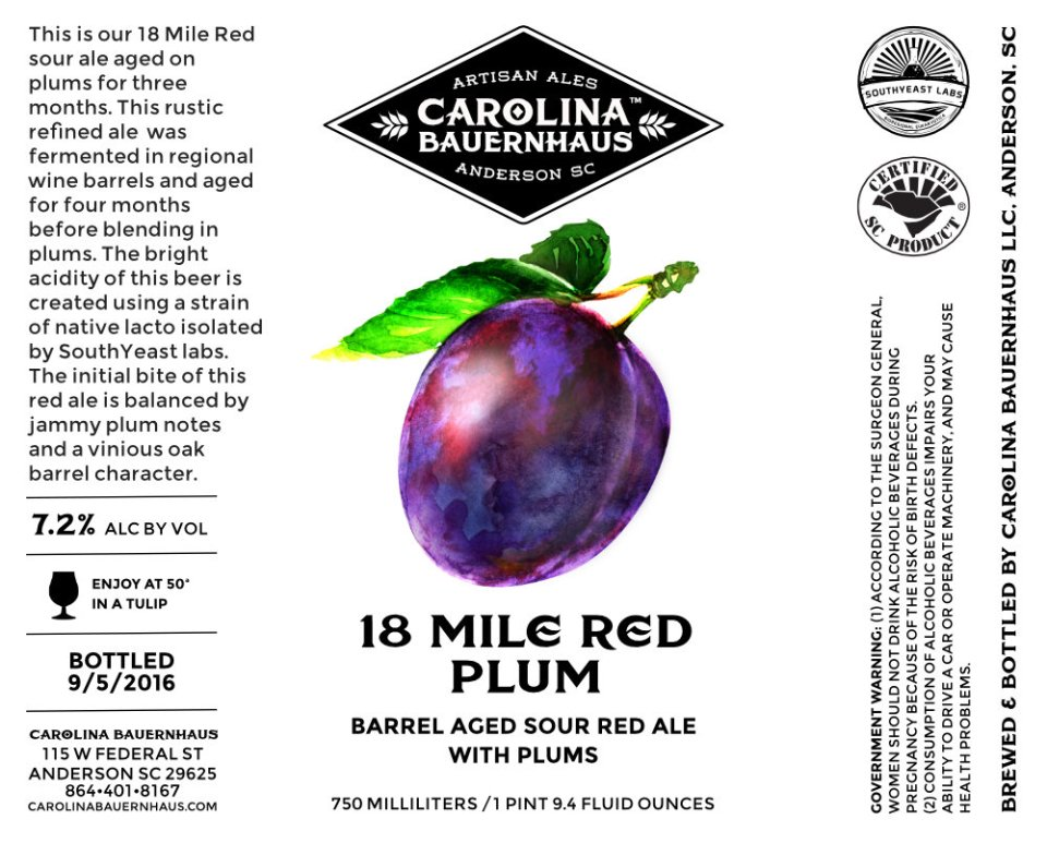 Carolina Bauernhaus 18 Mile Red Plum