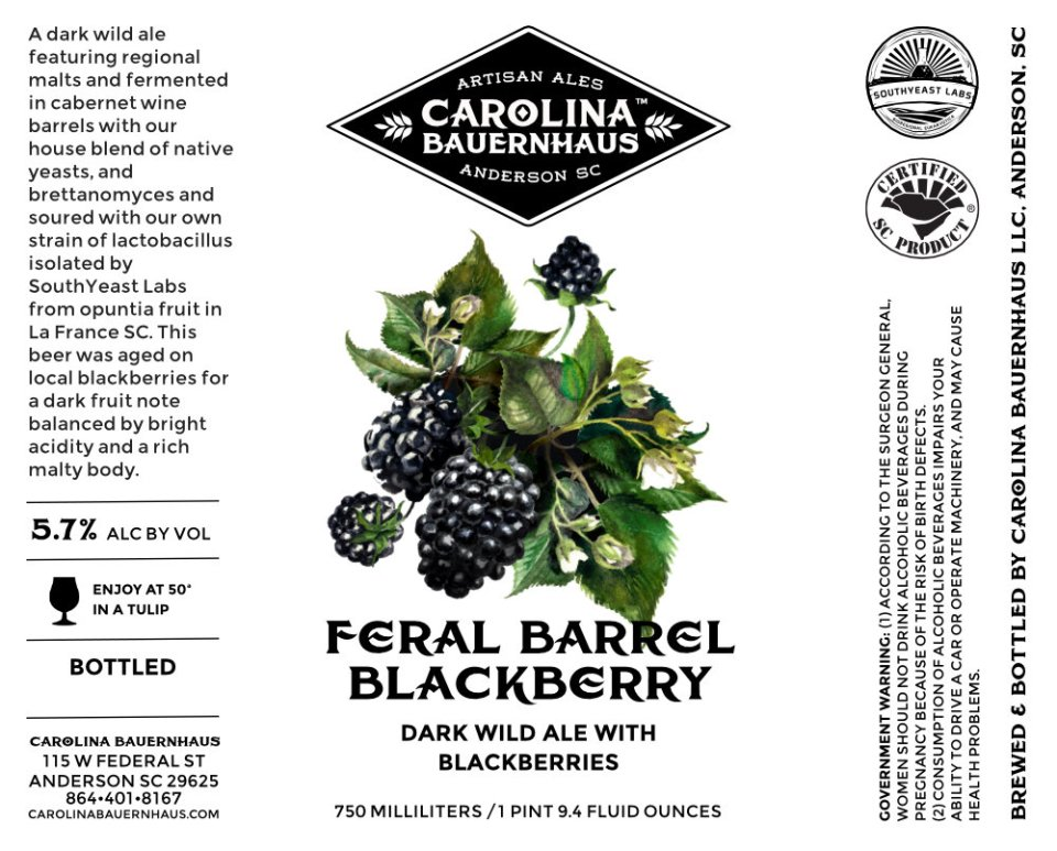 Carolina Bauernhaus Feral Barrel Blackberry