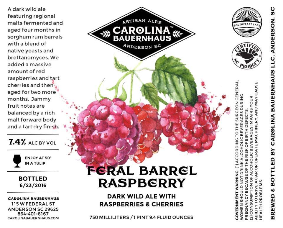 Carolina Bauernhaus Feral Barrel Raspberry
