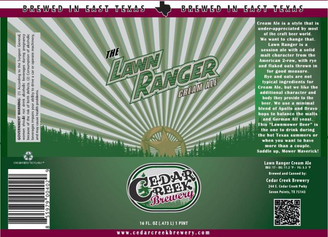 Cedar Creek The Lawn Ranger Cream Ale
