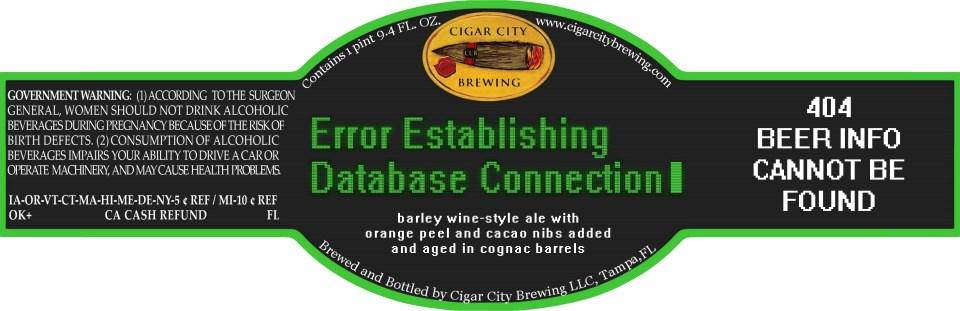 Cigar City Error Establishing Database Connection