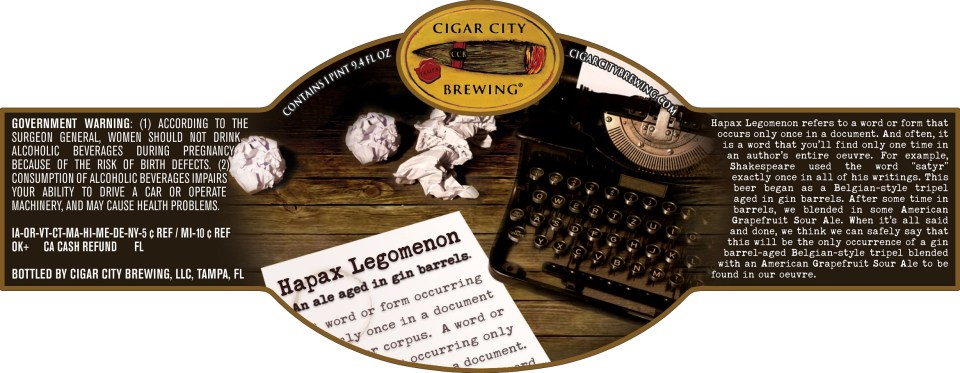Cigar City Hapax Legomenon