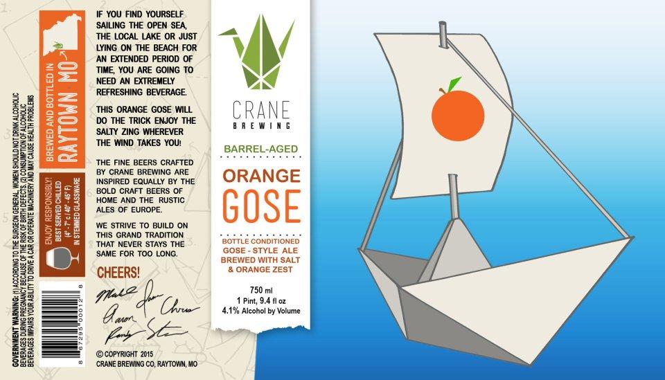 Crane Brewing Barrel-Aged Orange Gose