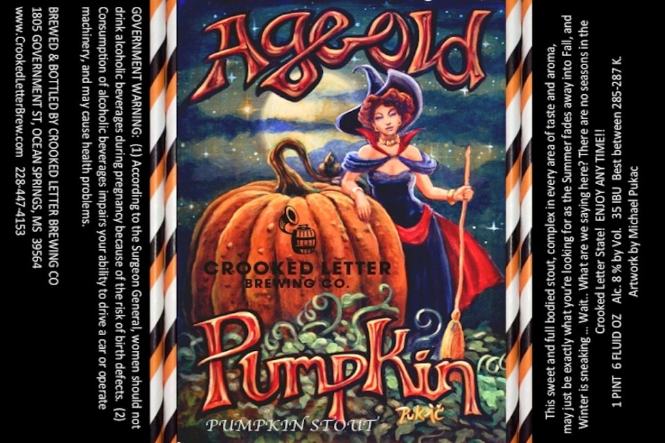 crooked letter brewing crooked letter aged pumpkin stout 21249 | Crooked Letter Aged Old Pumpkin Stout