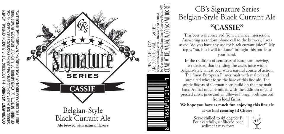 Custom Brewcrafters Signature Series Cassie