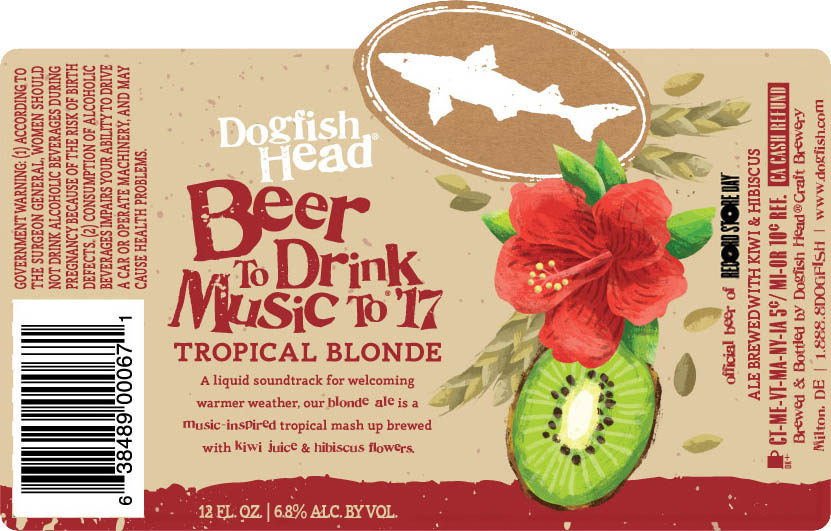 Dogfish Head Beer to Drink Music To 2017