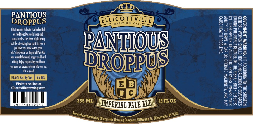 Ellicottville Brewing Pantious Droppus IPA