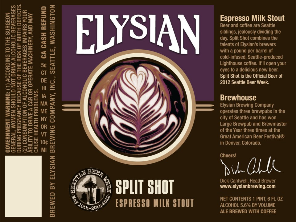 Elysian Split Shot Espresso Milk Stout