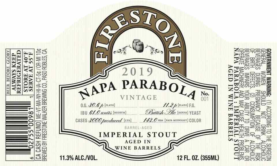 Firestone Walker Napa Parabola