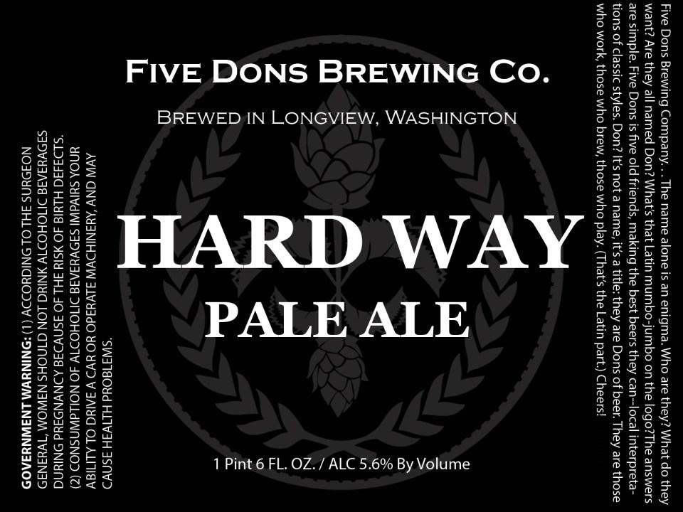 Five Dons Hard Way Pale Ale