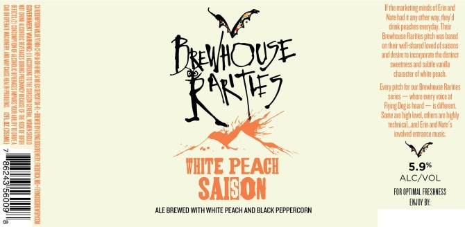 Flying Dog Brewhouse Rarities White Peach Saison