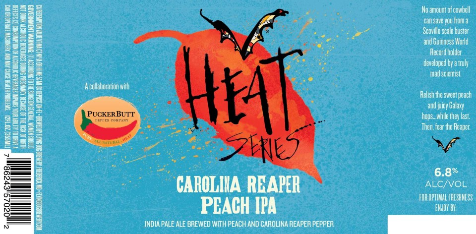 Flying Dog Carolina Reaper Peach IPA