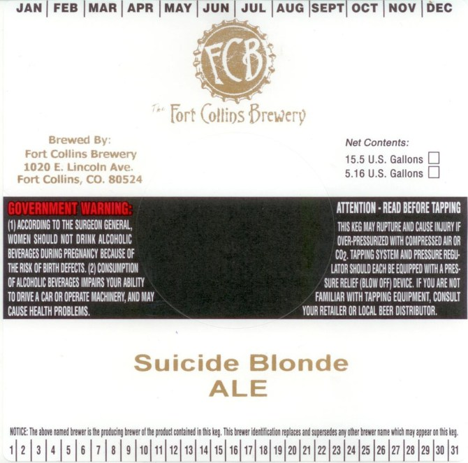 Fort Collins Suicide Blonde Draft