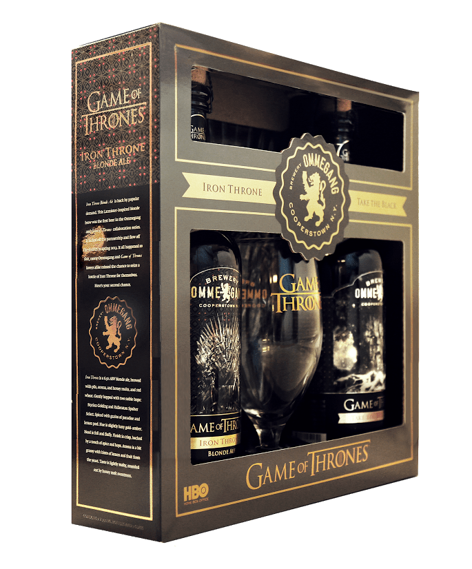 game of thrones gifts ommegang to re release two of thrones beers gift set 29576