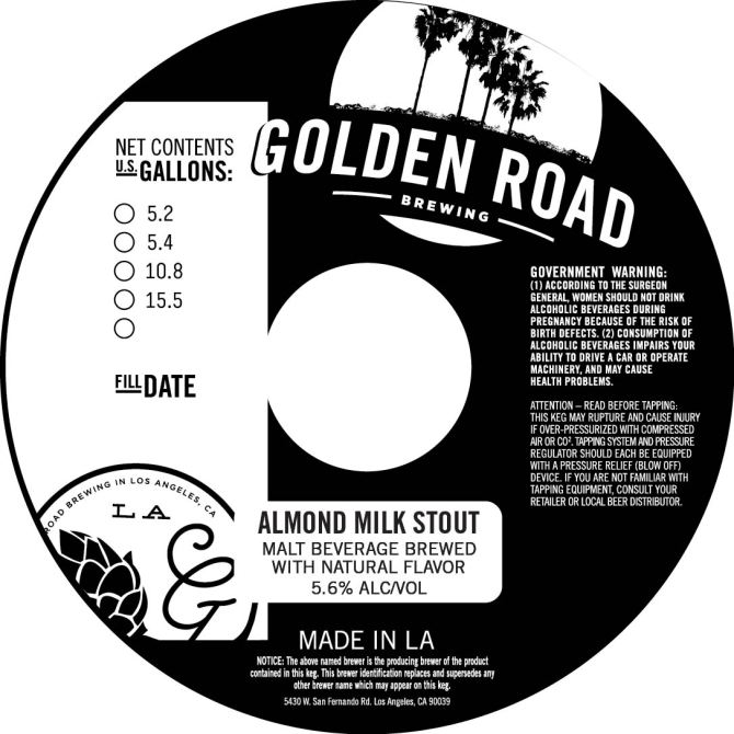Golden Road Almond Milk Stout